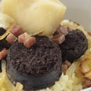 Morcilla com batatas ao forno